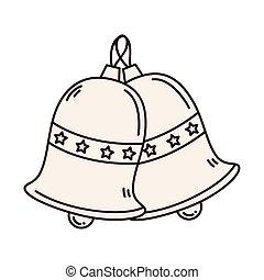 merry christmas bells vector design
