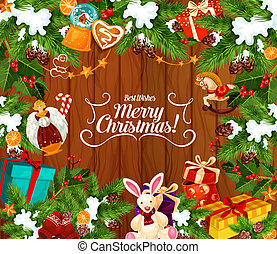 Merry Christmas best wishes, greeting card - Merry Christmas...