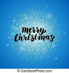 Merry Christmas Blue Greeting Card