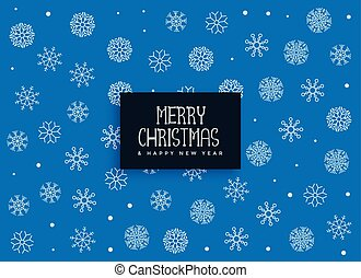 merry christmas blue snowflakes decoration background