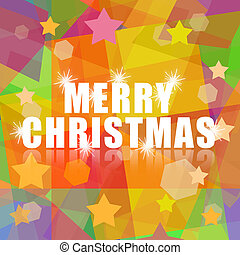 Merry Christmas bright design