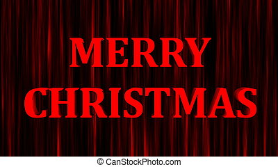 Merry christmas bright text and snowfall, 3d render background, computer generating for holidays festive design