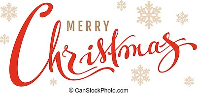Merry Christmas calligraphy text