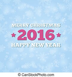 Merry Christmas card blue background