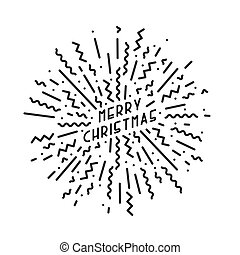 Merry christmas card. Creative design in memphis style.