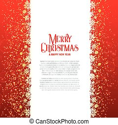 merry christmas card design with sparkles
