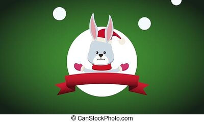 Merry christmas card HD animation