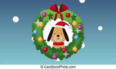 Merry christmas card HD animation