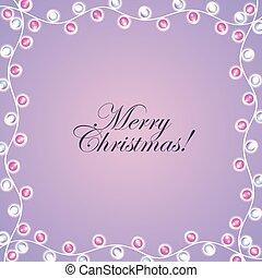 merry christmas card invitation lights decoration frame