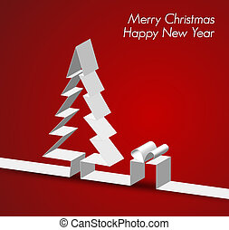 Merry Christmas card made from paper stripe - Merry...