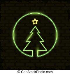 merry christmas card neon light