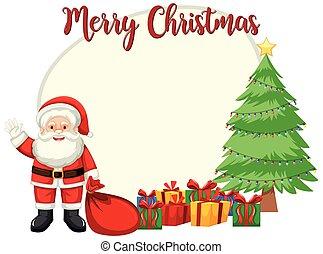 Merry Christmas card template