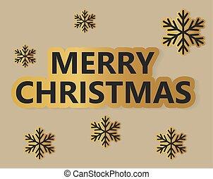 Merry Christmas card- vector illustration