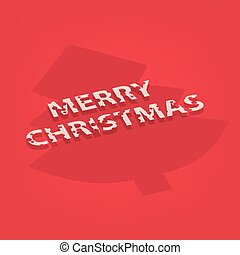 merry christmas card -vector illustration
