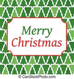 merry christmas card - vector illustration
