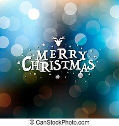 Merry Christmas Card With Bokeh