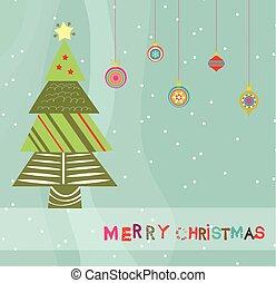 merry christmas card with christmas