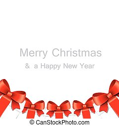 Merry Christmas card with gift boxes.