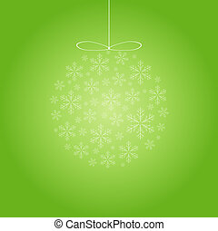 Merry christmas card with snowflakes,
