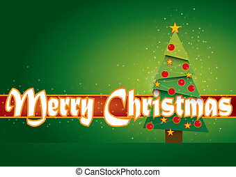 Merry Christmas card with stars