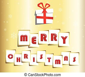 Merry christmas card.Vector illustration.