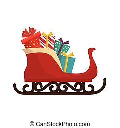 merry christmas carriage gifts celebration