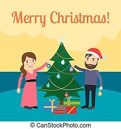 Merry Christmas cartoon illustration