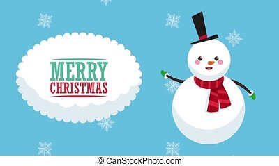 Merry christmas cartoons HD animation