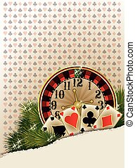 Merry Christmas Casino background,