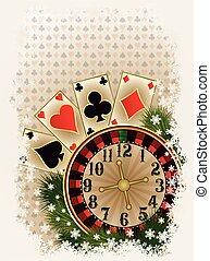 Merry Christmas Casino invitation