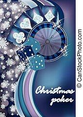 Merry Christmas casino snow card