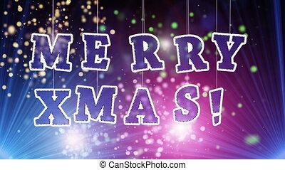 merry christmas celebration loop