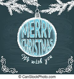 Merry Christmas chalkboard greeting card