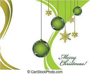 Merry Christmas - Christmas greeting card with decorative...