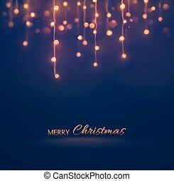 Merry Christmas - Christmas light, holiday background, eps...