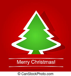 merry christmas. Christmas tree - Greeting Card