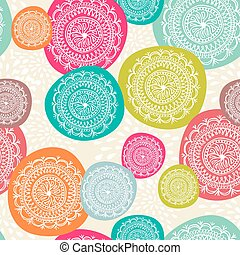 Merry Christmas circle seamless pattern background. EPS10...