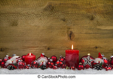Merry christmas: Classic christmas decoration in red and...