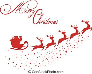 Merry Christmas - vector Christmas background with Santa...