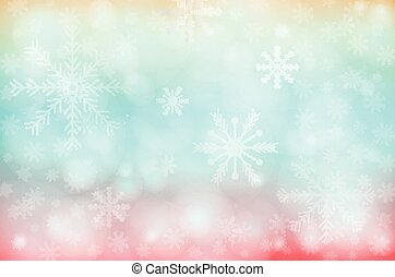 Merry christmas colorful background with snowflake, vector