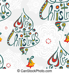 Merry christmas congratulation seamless pattern