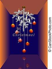Merry Christmas creative card. Vector
