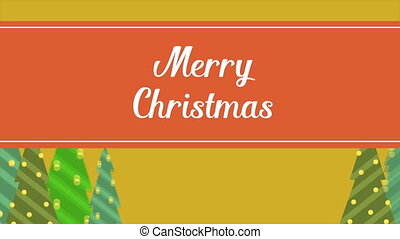 Merry Christmas cute animation background