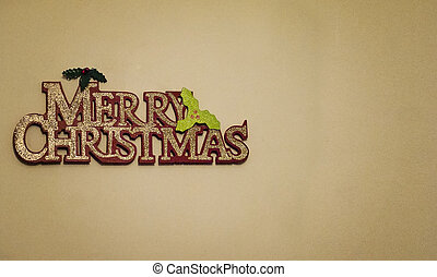 Merry Christmas decoration