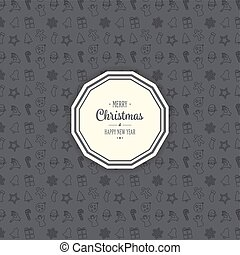 merry christmas decoration ornament pattern background
