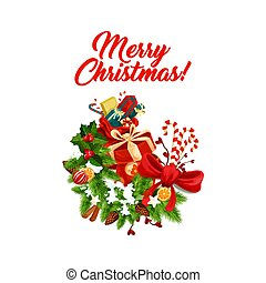 Merry Christmas decoration vector icon