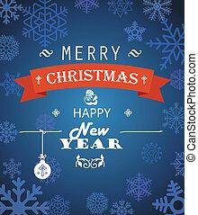Merry Christmas decorative invitation card