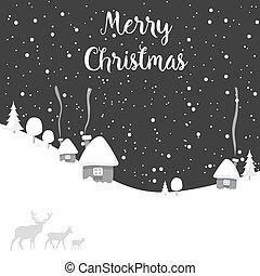merry christmas deer happy new year