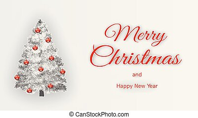 Merry Christmas design in paper cut style.