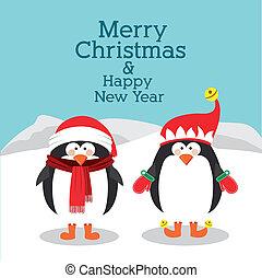merry christmas design over landscape background vector illustration